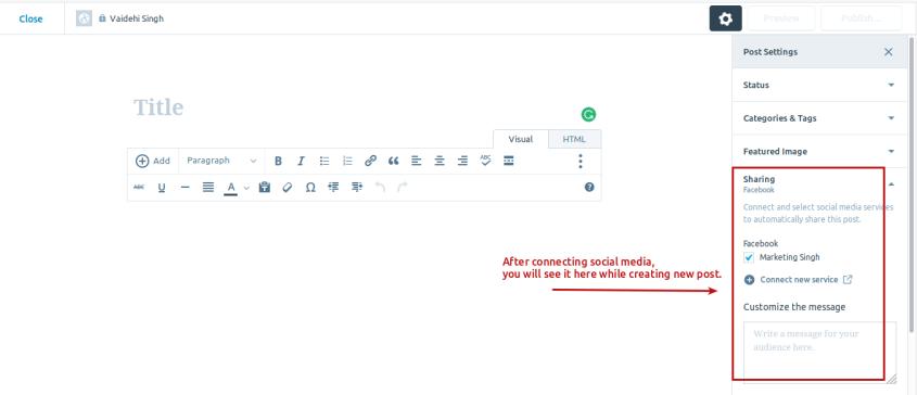 Step 4 Sharing on WordPress.com